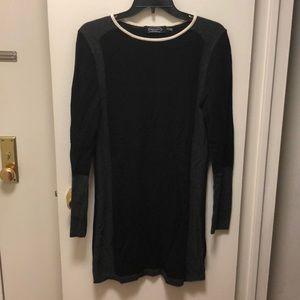 Magaschoni NY Black/Gray Sweater Dress, Size MED